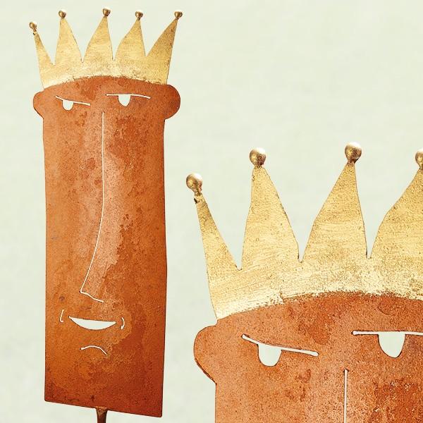 König auf Stab