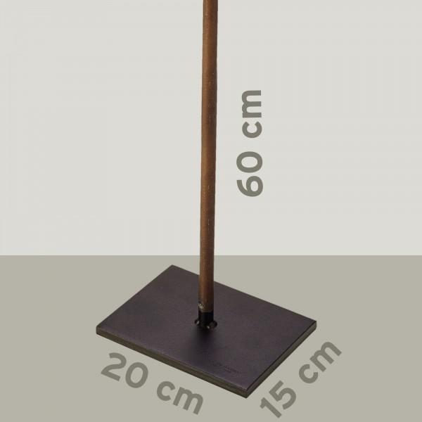 Zubehör Set Bodenplatte mit Stange 60 cm