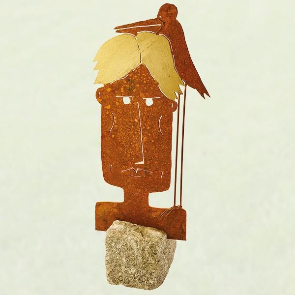 Mann auf Stein