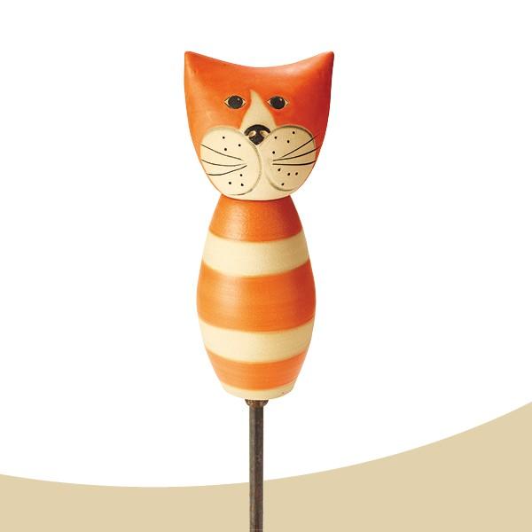 Stele Katze Tom orange bauchig Nr. 129