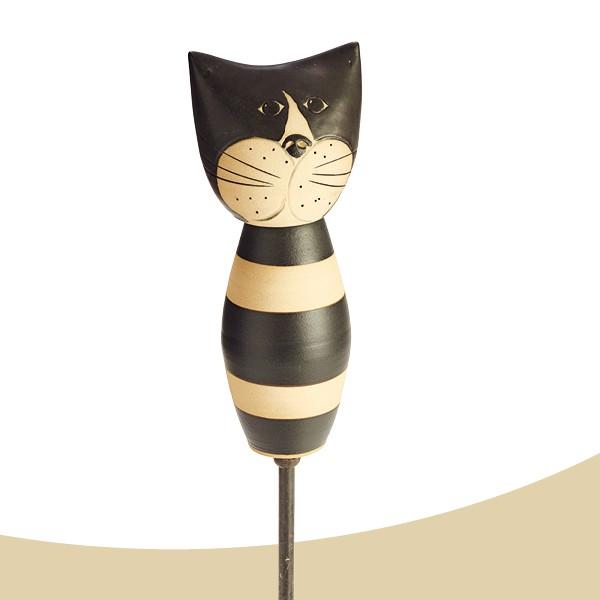 Stele Katze Figaro schwarz bauchig Nr. 125