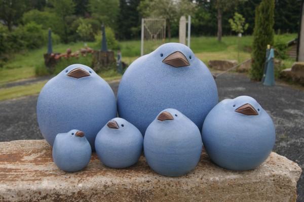 Gute Miene Spatz in blau,frostfest,6 Größen